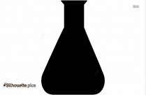Simple Conical Flask Silhouette