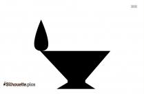 Simple Diya Silhouette Image