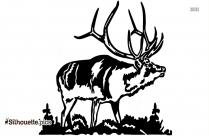 Simple Elk Drawing Silhouette Image