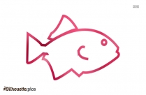 Fish Drawing Silhouette Vector Wallpaper