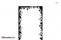 Flower Border Silhouette Clipart