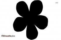 Simple Flower Clip Art Vector Silhouette