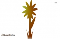 Simple Flower Clipart Image Silhouette