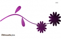 Simple Flowers Divider Silhouette