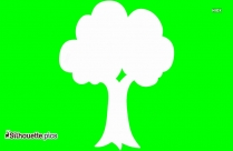 Simple Green Tree Silhouette