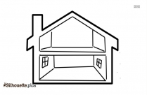 Vector House Icon Silhouette Drawing