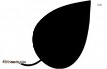 Teak Leaf Silhouette Image
