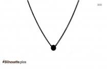 Neck Chain Silhouette Image, Clipart