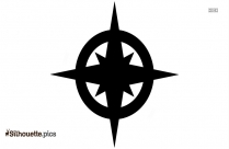Simple Old Compass Silhouette Vector And Graphics