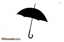 Simple Plain Umbrella Silhouette