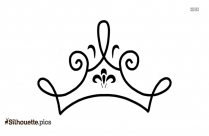 Simple Queen Crown Drawing Silhouette Image