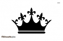 Cartoon Crown Silhouette Background