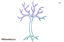 Simple Tree Drawings Silhouette Picture