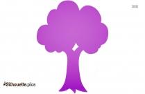 Tree Trunk Silhouette Art