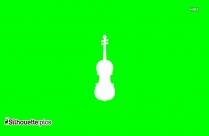 Beautiful Violin Clipart Silhouette