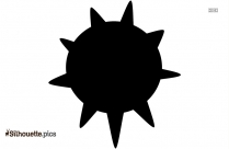 Sun Cloud Vector Drawing Silhouette