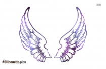 Tribal Angel Wings Silhouette, Drawing