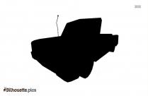 Simpsons Car Silhouette Free Vector Art