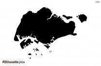 Sierra Leone Map Silhouette Art