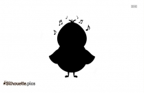 Cute Bird Singing Silhouette