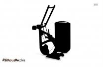 Bench Press Gym Equipment Silhouette Art