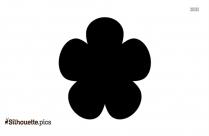 Black Six Petal Flower Silhouette Image
