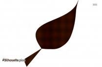 Beech Leaf Silhouette Illustration