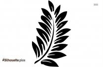 Single Palm Leaf Silhouette