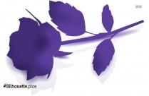 Flower Shape Silhouette Drawing