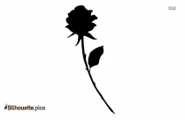 Single Rose Silhouette Image And Vector