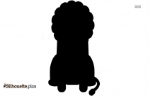 Cartoon Baby Tiger Sitting Silhouette