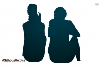 Couple Sitting Silhouette Png