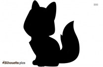 Sitting Fox Art Silhouette Picture