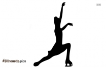 Skate Dance Black And White Silhouette