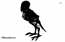 Ostrich Skeleton Vector Silhouette