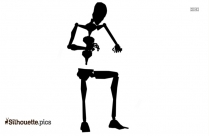 Cartoon Skeleton Silhouette Picture