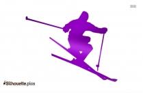 Skier Clip Art Silhouette