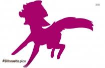Cartoon Pig Symbol Silhouette