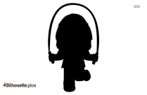 Skipping For Joy Silhouette Vector And Graphics