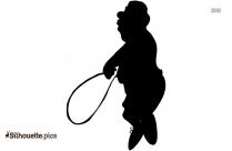 Athlete Jumping Silhouette Image