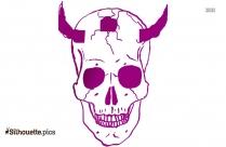 Skull Demon Tattoo Designs Silhouette