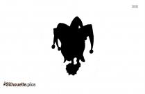 Tribal Skull Silhouette, Clipart