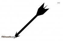 Arrow Pointing Down Silhouette Clipart Image