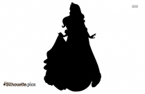 Barbie With Crown Silhouette Image