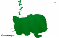 Sleeping Cat Logo Silhouette For Download