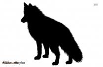 Slightly Fox Silhouette Background