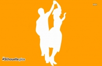 Slow Dancing Silhouette Clip Art