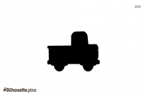 Small Cartoon Truck Silhouette