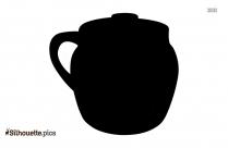 Small Crock Pot Silhouette Art