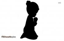 Small Girl Praying Silhouette